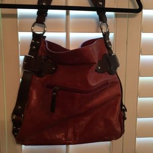Tano Leather red/brown Hobo purse